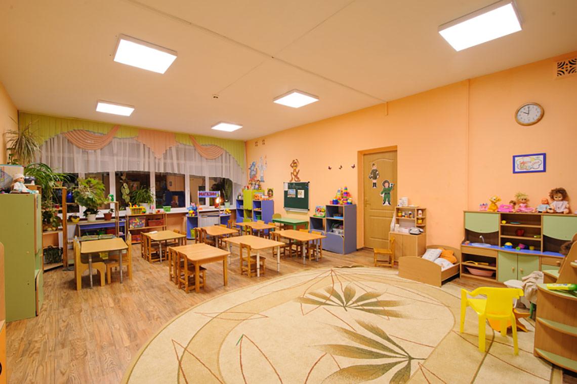 внутреннее освещение в детском саду