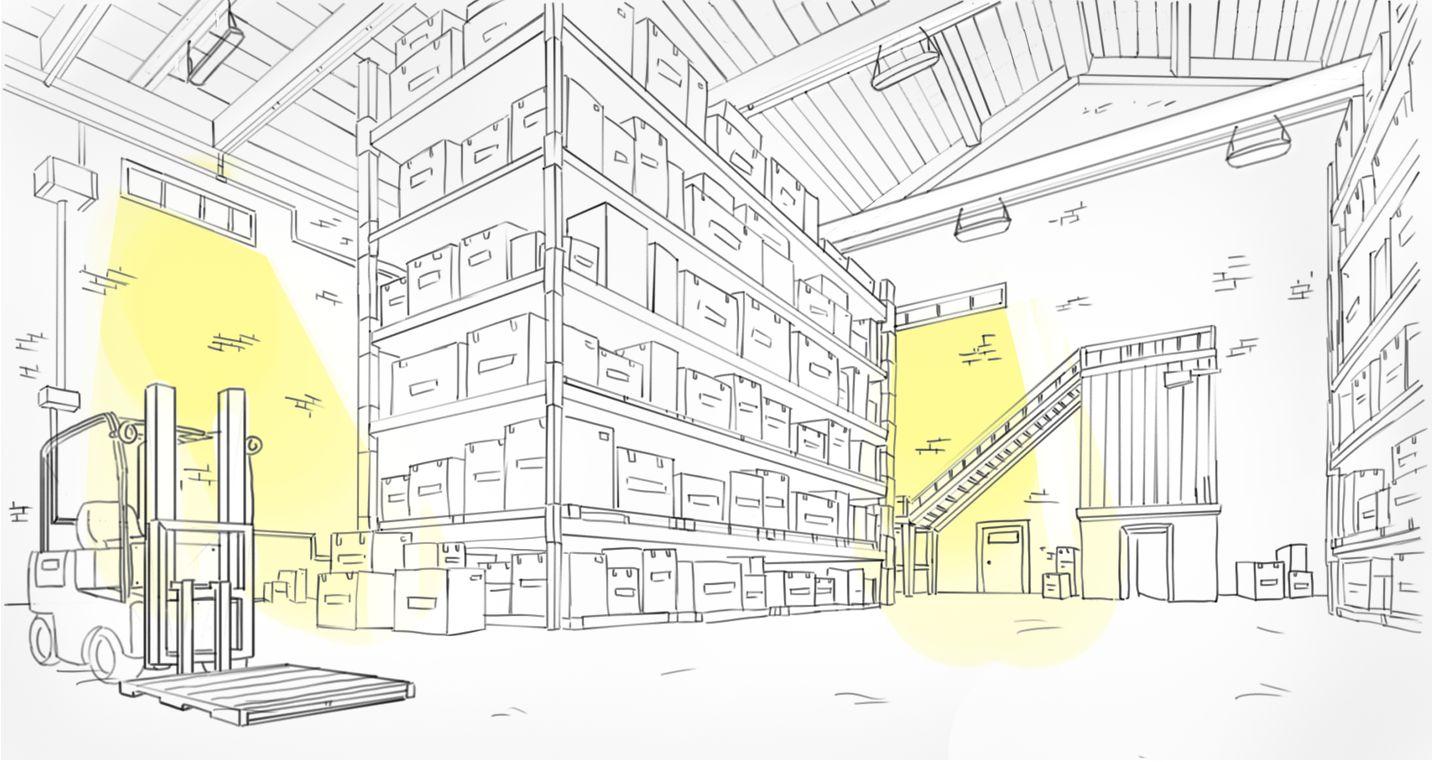 Система автоматического управления освещением на складе